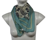 Ann Taylor LOFT Ann Taylor Loft Womens Blue Scarf One Floral Cotton Blend Casual