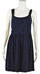 Ann Taylor LOFT Womens Printed Sleeveless Above Knee Sheath Dress