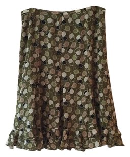 Ann Taylor LOFT Skirt Green, brown, black