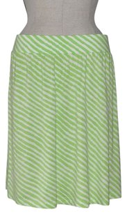 Ann Taylor LOFT Striped Jersey Beach Resort Skirt Green & White