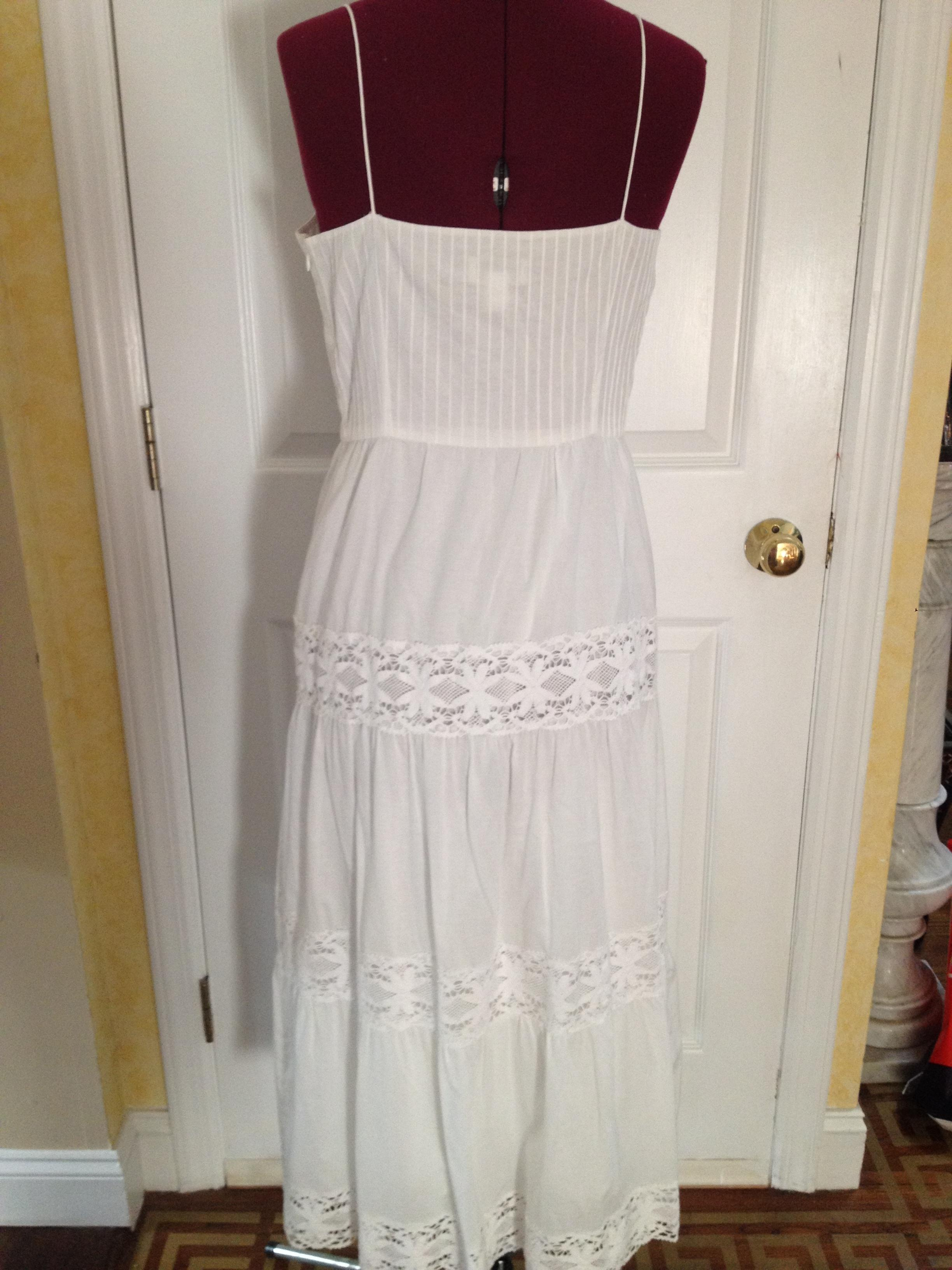 Ann taylor loft white maxi dress