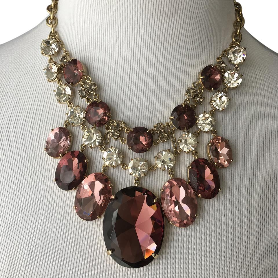 Ann Taylor Ann Taylor Stunning Costume Statement Necklace ... & Ann Taylor Plum/Pink Stunning Costume Statement Necklace - Tradesy
