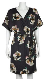 Ann Taylor Womens Floral Wrap Casual Wtw Sheath Below Knee Dress