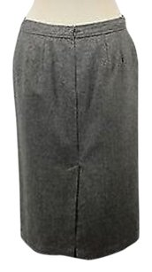 Ann Taylor Womens Petites Skirt Gray