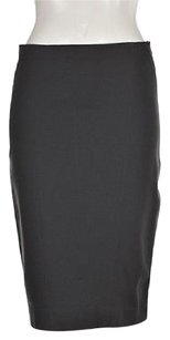 Ann Taylor Womens Pencil Solid Career Skirt Gray