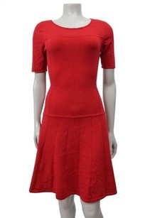Ann Taylor short dress Red Petite Seamed on Tradesy