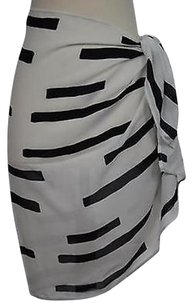Anne Cole Womens Black Skirt Ivory