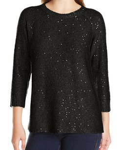 Anne Klein 10594114 3/4 Sleeve Crewneck Sweater
