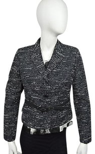 Anne Klein 10 15 Anne Klein Onyx Black Striped Blazer With Belt Sz 12p Msrp