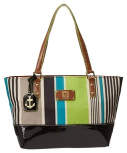 Anne Klein Coin Zip Pockets Zipper Top Tote in Multi