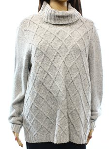 Anne Klein Cotton Blends Long Sleeve Sweater