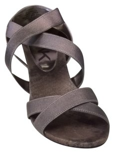 Anne Klein Pewter Wedges