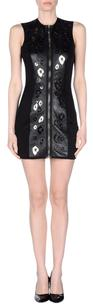 Anthony Vaccarello Party Leather Metal Appliqu Sleeveless 638m Dress