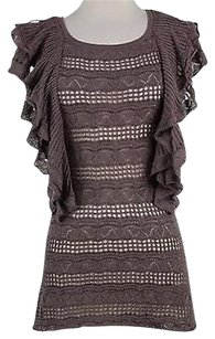 Anthropologie Knitted And Knotted Womens Top Brown