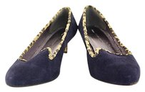 Anthropologie Pilcro And The Letter Press Womens Heels Leather Navy Pumps