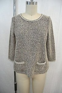 Anthropologie Meadow Rue Pearl Trim Sweater