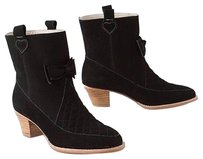 Anthropologie Nubuck Bow Boots