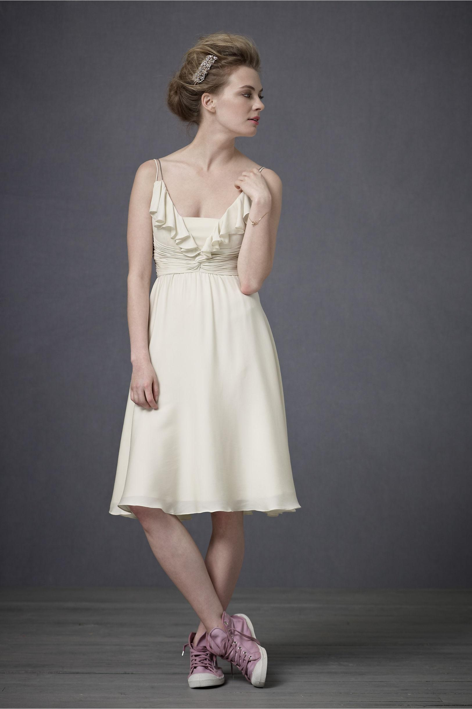 anthropologie wedding dress anthropologie ivory couplet knee length cocktail dress 1321