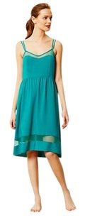 Turquoise Maxi Dress by Anthropologie Mesh Inserts