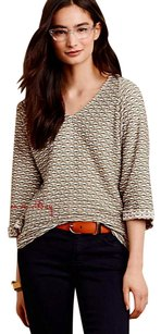 Anthropologie Textured Comfy Dolman Sleeves T Shirt Neutral