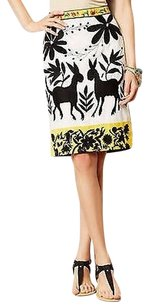 Anthropologie Sonja Embroidered Pencil Skirt