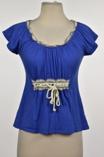 Anthropologie Womens Top Blue