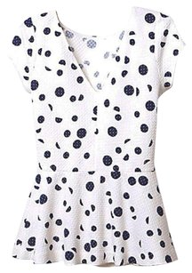 Anthropologie Top Ivory & Navy