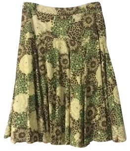 Antonio Melani Fully-lined Fit-and-flare Floral Side-zip Skirt green floral