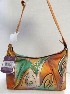 Anuschka Hand Painted Leather Shoulder Bag