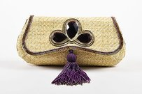Anya Hindmarch Purple Beige Clutch