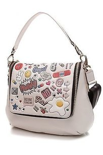 Anya Hindmarch Leather Satchel in White (ivory), multicolor