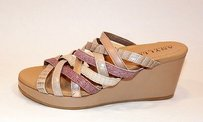 Anyi Lu Isis Strappy Wedge Beige, pink Sandals