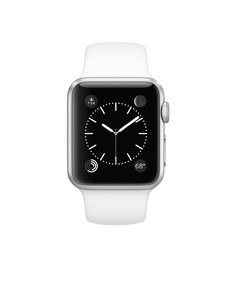 Apple Apple Watch 7000 Series 38mm Aluminum Case Sport with White Sport Band