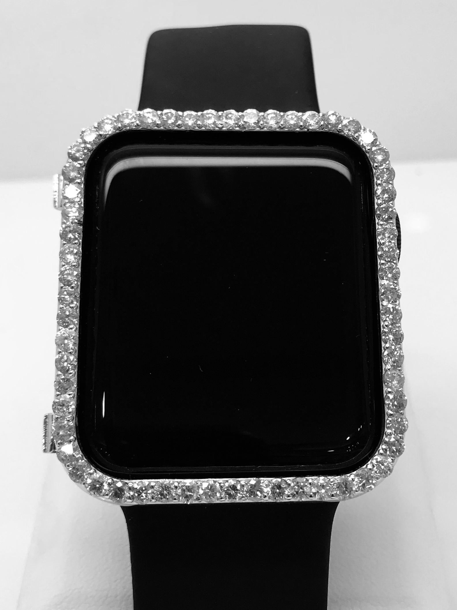 Black Diamond Apple Watch Bezel