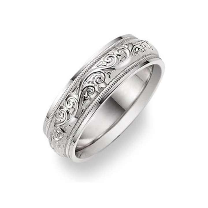 wedding rings for women apples of gold silver paisley ring women s wedding band 1038