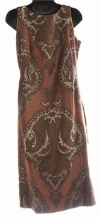 April Cornell Paisley Sleeveless Brushed Velvet Dress