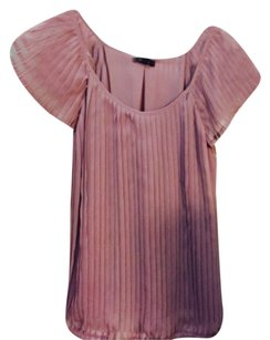 Apt 9 Pleated Rose with Flutter Sleeves Top Rose Pink