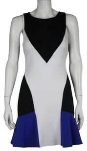 Aqua Womens Black White Dress