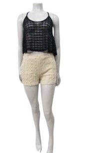 Ark & Co. Co Cable Knit In Urban Outfitters High Waist Mini/Short Shorts Beige