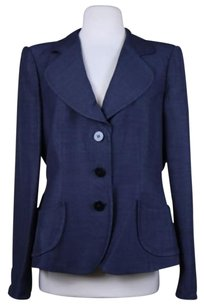 Armani Collezioni Armani Collezioni Womens Blue Blazer 4816 Career Jacket