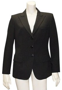 Armani Collezioni Armani Collezioni Black 100 Wool Button Long Sleeve Blazer Jacket Hs1976