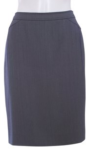 Armani Collezioni Polyester Vented Business Skirt Charcoal