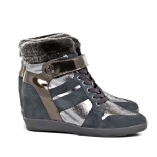 Armani Jeans silver grey Boots