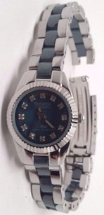 Armitron Armitron Ceramic Womens Silver And Blue Watch Broken