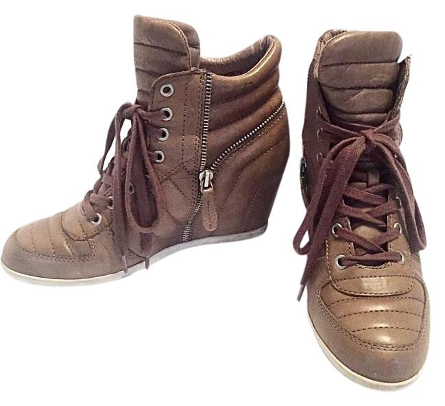 ash wedge sneakers brown athletic shoes on sale 57