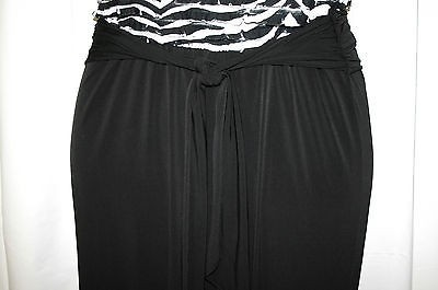 Durable Modeling Ashley Stewart 1x Black White Ruffle Top Strapless