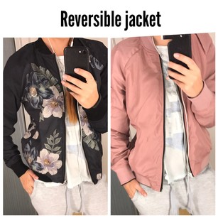 ASOS black floral and light pink Jacket