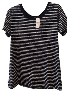 ATM T Shirt black and white stripes