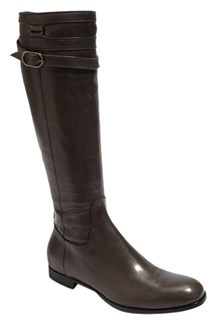 Attilio Giusti Leombruni Gray New Spiral Riding Narrow Boots/Booties Size US 6 Narrow Riding (Aa, N) c1a2b9