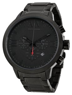 A|X Armani Exchange AX1277 ARMANI EXCHANGE Chronograph Black Dial Black Ion-plated Men's Watch